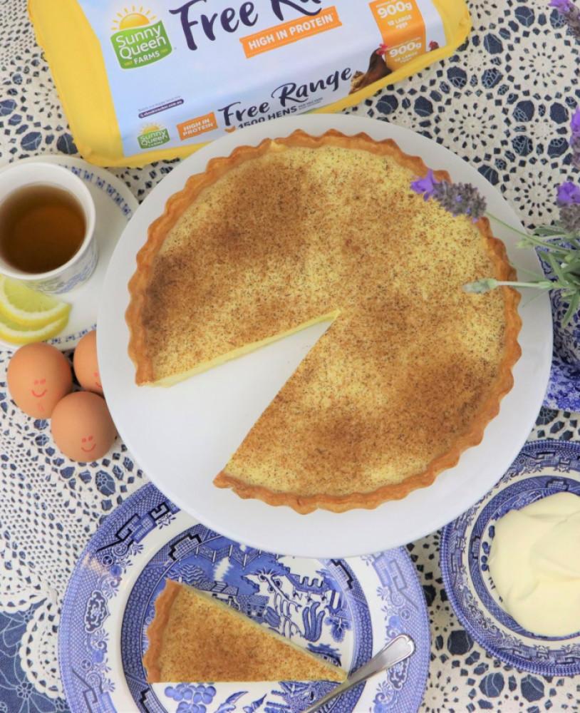 English Baked Custard Tart